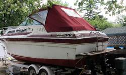 1983 Wellcraft 2600 Express Cruiser with 10 foot beam. Two 4 cylinder Twin Mercruisers. Sleeps 6.....full galley, shower. 100 gallon holding tank. Tandem axle trailer included. Full financing, extended warranty, and nationwide shipping is available! Beam:
