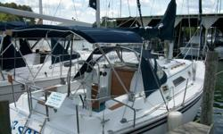 """1984 Hunter 31 """"Escape"""" This boat is in great condition, many items have been upgraded, therefore making this vessel a very good investment. It has sleeping accomodations for six people, making it a perfect sized sailboat for the family. Some"""