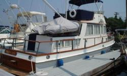 OverviewNEW TO THE MARKET!!!Renowned worldwide for dependable trouble free lengthy service the Leyland diesel sips less than 3 GPH while cruising at 8 knots. Beautifully maintained SATISFACTION looks younger than her years. A perfect layout for two