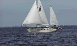 ANY REASONABLE OFFER CONSIDERED! 1 owner, very solid ocean boat, very clean boat, owner knowledgeable sailor, Roller furl headsail & in boom mizzen, spinnaker w pole, 6 sails, 4 dorade vents, 2 solar vents, EZ Kold refridg cold plate double size