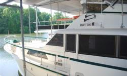 REDUCED! 1984 HATTERAS 53 CLASSIC. KEPT COVERED IN FRESHWATER! THE MOST POPULAR BOAT HATTERAS EVER MADE AND IT IS STILL IN GREAT CONDITION. YOU MUST SEE THIS BEAUTIFUL VESSEL TO UNDERSTAND ITS TRUE CRAFTSMANSHIP. WITH STANDUP ENGINE ROOMS, BIG DETROIT