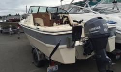 1984 Arima 18 SeaRanger This package includes a fishfinder, compass, radio, CB w/antenna, portable toilet, a 2013 fourstroke 60hp outboard with only 37 hours and a galvanized EZ Loader trailer.