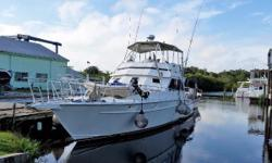 Price Reduction!  This Custom Sport Fisherman built to emulate the great lines of a Striker.     Amazing new solar power system makes this 62' Sport Fisherman totally electrically self sufficient!   Cruises at 11 knots with a 2,000