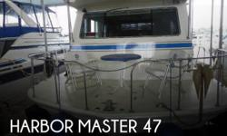 Actual Location: Scottsboro, AL - Stock #100693 - If you are in the market for a house boat, look no further than this 1984 Harbor Master 470, just reduced to $48,500.This vessel is located in Scottsboro, Alabama and is in great condition. She is also