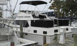 The Mainship 36 gives you a lot of interior volume and outside deck space making it a good choice for a summer home at the shore. Nominal Length: 36' Length Overall: 36' Drive Up: 2.2' Engine(s): Fuel Type: Other Engine Type: Inboard Draft: 2 ft. 2