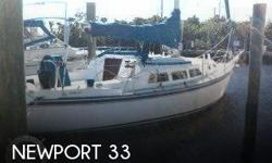 Actual Location: Fort Myers, FL - Stock #051374 - If you are in the market for a sloop sailboat, look no further than this 1984 Newport 33, just reduced to $17,500 (offers encouraged).This vessel is located in Fort Myers, Florida and is in good condition.
