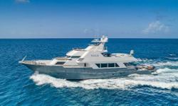 New Hull paint, soft goods, furnishings and water sports equipment in the last 12 months ROGUE is a truly remarkable vessel designed by the renowned naval architect Jon Bannenberg and built in the U.S. by Poole Chaffe. She has undergone numerous