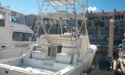 1984 Topaz 36 Sportfish located in Jacksonville, FL. Cat 3126 420hp diesels replaced in 1999 and now have 2900 hrs. 2 Furono Navnets + radar. Tower with upper station. 8kw generator w/ 2040 hrs. New batteries and 100 amp