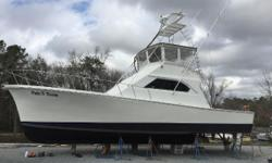 Remanufactured Caterpillar engines 83K worth of updates. Also 8K fighting chair included. call today.   Start your Charter Business today or add to your Fleet. This Charter boat that is very well maintained, in excellent condition, turnkey