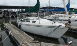 Sought after 30' 1985 Catalina Cruising Sailboat. Sail covers, Furling , Jib, and Main. Newer Bimini top. Stove, Fridge, pumpout head, Hot (off engine)/cold water system, beautiful wood through out. Solid boat! Replacement port windows through out, call