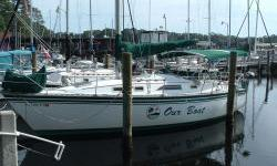 Description This is a clean and solid cruiser / racer with nice walk ways and a huge cockpit that will make this vessel easy to sail. Call today to veiw this vessel. Accommodations Accommodations CabinTri-Cabin layout featuring a forward V-Berth (sleeps