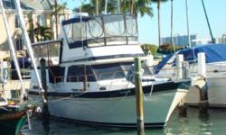 "THE PERFECT LOOP OR ISLAND YACHT ..... ""CATCH THE SPIRIT"" IS A MUST SEE !!! Beautiful Low Hour 38' Motor Yacht. Twin 210hp Caterpillar - Natural - Diesels Only 1450 Original Hours. Very economical and nice 10 knot cruise. Vessel shows pride in ownership"