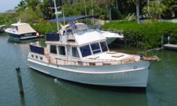 1985 Grand Banks 42 Call Captain Jerry at 941-383-5232 or email captainjerry@chitwood-charters.com This Yacht is as new !!! Twin 320 Turbo Cats Redone with New Twin Disc Trannys. 16.4 Knots. one hour on 15 KW Gen. New Water Maker,New Washer / Dryer,New