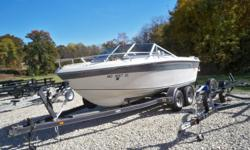 Here is a very clean 1985 19 ft Sterndrive & Tandem Trailer , that would make a excellent first time Boat. Beam: 8 ft. 0 in. Optional features: Options: 1985 Celebrity 190V Bow Rider Lifetime Tandem Trailer 260 hp 5.7 Engine Boat Cover Stock number: CON