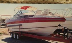 Brand new: tires on trailer, depthfinder, biminis,flat screen, transom, engine work done by Wahweap Marina services. Vests, ropes, dishes, microwave, towels, beach toys, and so many extras. Hin: CEBWA066H485 Draft: 2 ft. 10 in. Beam: 10 ft. 1 in. Fuel