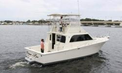 (LOCATION: Panama City FL) The Egg Harbor 41 Sport Fish is an upscale sport fisherman that is designed to fish in style and do it successfully. Enclosed bridge, open cockpit, and upscale cabin make her a fisherman with all the comforts of home. The bridge