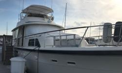 """This timeless classic is a perfect example of how a """"Yacht"""" should be cared for. Fully equipped for those long cruises, this Hatteras has many updates and additions. Recent updates include: remodeled galley with newer appliances. Generator rebuilt this"""