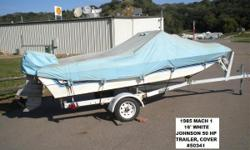 1985 Mach 1 bowrider with 50 HP Johnson outboard motor and single axle trailer. Blue and White located in our Norfolk, NE store. - 17' open bow with 50 Johnson Nominal Length: 17' Engine(s): Fuel Type: Other Engine Type: Outboard Stock number: NMach15034