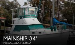 Actual Location: Pensacola, FL - Stock #108731 - If you are in the market for a trawler, look no further than this 1985 Mainship 34 Mark III, priced right at $55,600 (offers encouraged).This vessel is located in Pensacola, Florida and is in great