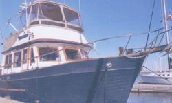 This roomy,economical,single engine trawler has had the same owner for the last 13 years. She has been professionally maintained and has had constant upgrades. Her blue awlgripped hull and recent flybridge enclosure gives the new captain and crew one