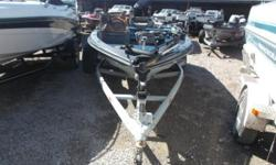 1985 Ranger 340V bass boat, powered by a Mercury 115 HP motor. We have added a Minn Kota 45lb Edge trolling motor. Boat is in fair shape, but is a sound boat. As with any boat we sell, we will make sure that it's lake ready, before it leaves the lot.