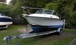 Project Boat! Very nice example of the sought after 24 Rampage Express. Great fishing boat or cruising boat. Ready for your engine. This is a brand new listing, just on the market this week. Please submit all reasonable offers. We encourage all buyers to