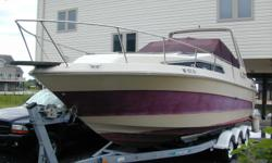 $9900.00 OBO . 26.8' Aft-Cabin with 2000 Model Year Tri-Axle Venture Trailer, Full Galley, Gas/ Electric Stove, Refrigerator, Electric Macerator, Dual Battery System ( new Batteries), , Rebuilt carb, New Hoses and Batteries (2006), Mechanical