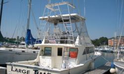New to market with more information coming soon. Some notable equipment includes tuna tower, fighting chair, windlass, Northern Lights 8 kw generator and extensive electronics. Category: Powerboats Water Capacity: 0 gal Type:  Holding Tank Details: