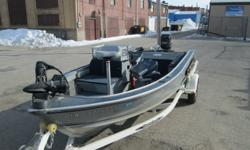 Boat motor and trailer is in very good shape for the Year of the boat. The 1986 50hp Mercury is electric start and has trim and tilt. this 4 cylinder Mercury motor is one of the best engines they ever made. runs great and ideals great. 2009 shore lander