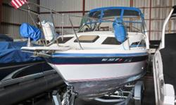 This Bayliner Ciera is ready for a new home. If you're looking for a boat that will give you a comfortable day (or night) on the water then this one is for you. Boarding from the rear swim platform is a breeze. From there you can gain easy access to the