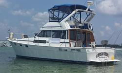 Comfortable and Well Equipped Classic Coastal Cruiser  Great Liveaboard Potential American Dream IIis powered by fuel efficient twin 175hp Hino Diesels. This was one of Bayliner's best selling boats during her decade-long production run. With