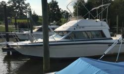 1986 Bayliner Marine Corp Contessa With Flying Bridge 28 Foot Cabin Cruiser Very Clean Runs Great 350 Volvo Penta Available for Inspection at Aquia Harbour Marina Am FM Swim Platform GPS VHS Radio Fresh Water Located in Stafford VA Financing Nationwide
