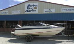 This is a fresh trade that we don't want to mess with so we are selling as is. Come down and check it out and see if your interested. She came in with bimini, camper canvas and a Lowrance GPS. On a trailer with running outboard. Nominal Length: 19' Stock
