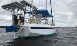 BRUCE ROBERTS NORFOLK 43, PROFESSIONALLY BUILT BY OCEAN STAR MARINE, INTERIOR FINISHED BY LITTLE HARBOR MARINE & HINCKLEY IN PORTSMOUTH, RI. Not launched until 1998. Sail anywhere with confidence aboard this rugged and strong ice-breaker! Repowered with a