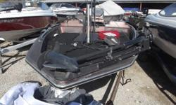 1986 Bumble Bee V-178 bass boat with a 1986 Yamaha 115 HP motor sitting on a Lite Rider Boat is in fair condition. Comes with a Minn Kota All-Terrain 40lb thrust trolling motor, and a Lowrance LMS-522 CiGPS fish locator Nominal Length: 18' Length Overall: