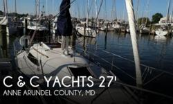 Actual Location: Annapolis, MD - Stock #092508 - If you are in the market for a sloop sailboat, look no further than this 1986 C & C 27 Mk V ELECTRIC, just reduced to $18,500 (offers encouraged).This sailboat is located in Annapolis, Maryland and is in