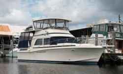 """""""Moon Dancer"""" is a well cared for Chris Craft 426 Catalina witha very spacious layout making her ideal for living-aboard or cruising. Nominal Length: 42' Length Overall: 42' Max Draft: 3.5' Draft: 3 ft. 6 in. Beam: 14 ft. 9 in. Fuel tank"""