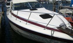 33 foot Cabin Cruser Deep V Twin 454 Crusader Engines. 6.5 onan gen set. with GPS Garmon 545s AC full galley. 3 burner stove and oven. Full refrigerator and freezer. Head with shower. 1000.00 dollar custom box spring mattress. Custom rear bench seat and