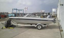 1986 Chris-Craft Tara 16BR with Evinrude two stroke 110hp V4 with single axl trailer. Package includes 4 seats in cockpit area and cockpit. Bow is missing filler cushion pads and fish finder in photos does not work. Floor has some soft spots. Motor is in