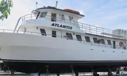 "US COAST GUARD CERTIFICATE AWARDED THRU - MAY 2020  70' COMMERCIAL  Vessel ""ATLANTIS""  is Currently USCG CERTIFIED FOR 87 PASSENGERS & 3 CREW. - Total 90 PASSENGERS!  The perfect Vessel for A Party, Fishing, Sight-Seeing business."