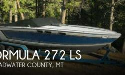 Actual Location: Townsend, MT - Stock #046402 - If you are in the market for a high performance, look no further than this 1986 Formula 272 LS, just reduced to $8,750 (offers encouraged).This boat is located in Townsend, Montana and is in good condition.