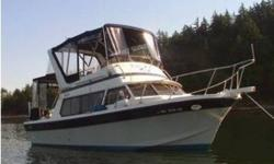 1986 Glasply GLASPLY L2969 FLYBRDG LC With Long Cabin & Trailer Boat is clean and in very good condition Powered by twin 350 cu. in. gas V8 MerCruisers Has two aluminum gas tanks which hold a total of 150 gallons Boat is professionally maintained Includes