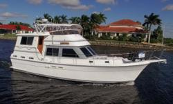 Villa D Este is a well maintained aft cabin motor yacht. She has new canvas on the flybridge, new windshield cover, all the windows and port holes have been replaced! This is the widebody model with the enclosed heated and air conditioned