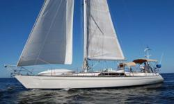The Kaufman 49 cutter rig is a quality built monohull with beautiful lines quite similar to a Swan.  The designer of this pedigree yacht, Mike Kaufman, made this boat sleek to be fast while still maintaining comfortable and luxurious accommodations