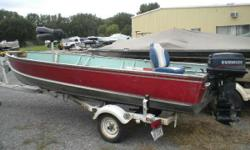 1986 Lund 16' Tyee Tiller model with a 25 Evinrude sitting on a single axle Shoreland'r trailer. Nice little package, solid boat and motor runs well. - 16' Lund Tiller Nominal Length: 16' Engine(s): Fuel Type: Other Engine Type: Outboard Stock number: