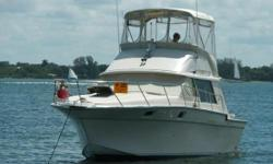 WITH NEW POWER / TRANS and ALL THE UPDATES THIS BOAT IS A STEAL!!! (LOCATION: Manatee County FL) The Silverton 34 Convertible is a mid-sized cruiser with big cruiser features. She has a flybridge with full enclosure, open cockpit, roomy salon, and forward