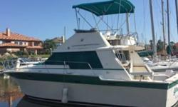 1986 Silverton Convertible 34 1986 Silverton Convertible 34 model in great condition White fiberglass hull Equipped with Twin 270hp Crusader motors Currently with 600 hours on them In good shape both within and out as well! Brand New Installations