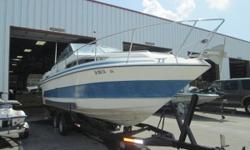 This 1986 Sundancer 268 is a great boat to take out on the water for an extended amount of time! This boat is priced to sell and ready to go don't miss out on this deal! Features Include Mercruiser 260 HP Motor Trailer Full Instrumentation Dash Mounted