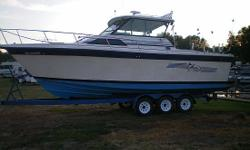1987 Baha 310 Sportfish Contact Boat Owner Mike 810-730-4238 or americantruckfleet@yahoo.com THIS BOAT IS LOADED AND WELL KEPT.IT COMES WITH ALL THE EQUIPMENT YOU WILL NEED FOR DEEP LAKE FISHING. Category: Powerboats Water Capacity: 0 gal Type:  Holding