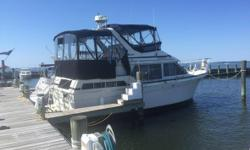 1987 Tollycraft Sundeck Motor Yacht LOA 34 ft 0 in Beam 14 ft 6 in Minimum Draft 2 ft 10 in Maximum Draft 3 ft 2 in Bridge Clearance 13 ft 6 in Dry Weight 17000 lbs Total Power 540 HP Engine 1 Engine Brand Crusader Year Built 1987 Engine Model 350 Engine